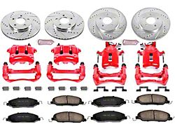 Power Stop Z23 Evolution Brake Rotor, Pad and Caliper Kit; Front and Rear (05-10 V6)