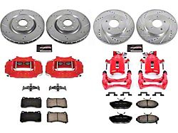 Power Stop Z23 Evolution Brake Rotor, Pad and Caliper Kit; Front and Rear (11-14 GT Brembo, BOSS 302)