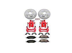 Power Stop Z23 Evolution Brake Rotor, Pad and Caliper Kit; Rear (05-10 GT, V6; 07-11 GT500)
