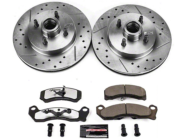 Power Stop Z26 Street Warrior Brake Rotor and Pad Kit; Front (87-93 5.0L, Excluding Cobra)