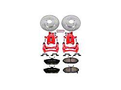 Power Stop Z26 Street Warrior Brake Rotor, Pad and Caliper Kit; Rear (11-14 GT, V6)