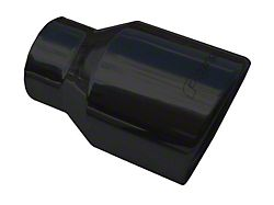 Pypes 4-Inch Black Exhaust Tip; 2.50-Inch Connection (05-10 All)