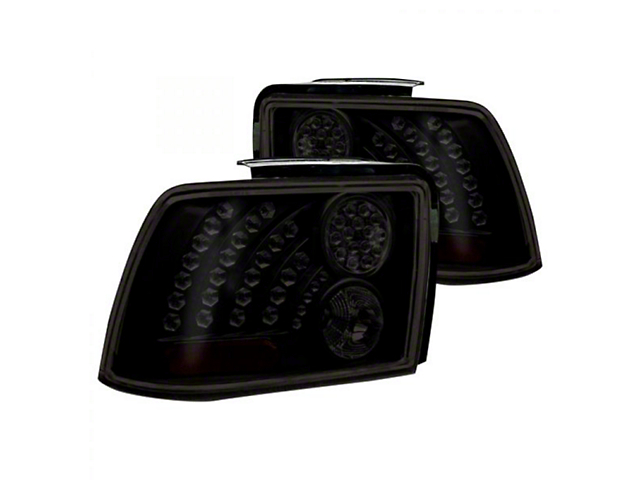 LED Tail Lights; Black/Smoked (99-04 All, Excluding 99-01 Cobra)