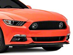 Renegade Series Upper Grille with Fog Lights and LED DRL Rings (15-17 GT, EcoBoost, V6)