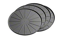 Weathertech 12-Inch Round Coaster Set; Black