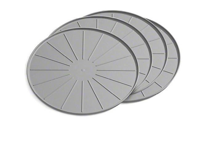 Weathertech 12-Inch Round Coaster Set; Grey