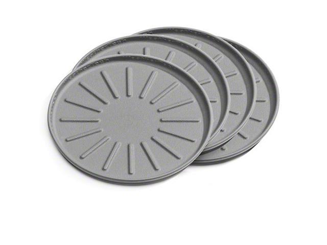 Weathertech 4-Inch Round Coaster Set; Grey