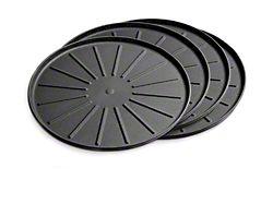 Weathertech 6-Inch Round Coaster Set; Black