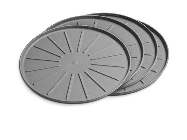 Weathertech 6-Inch Round Coaster Set; Grey