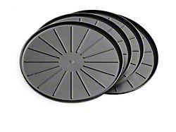 Weathertech 8-Inch Round Coaster Set; Black