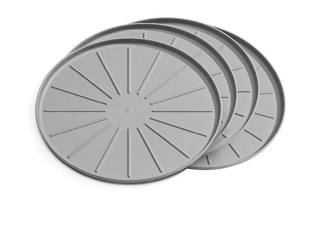 Weathertech 8-Inch Round Coaster Set; Grey