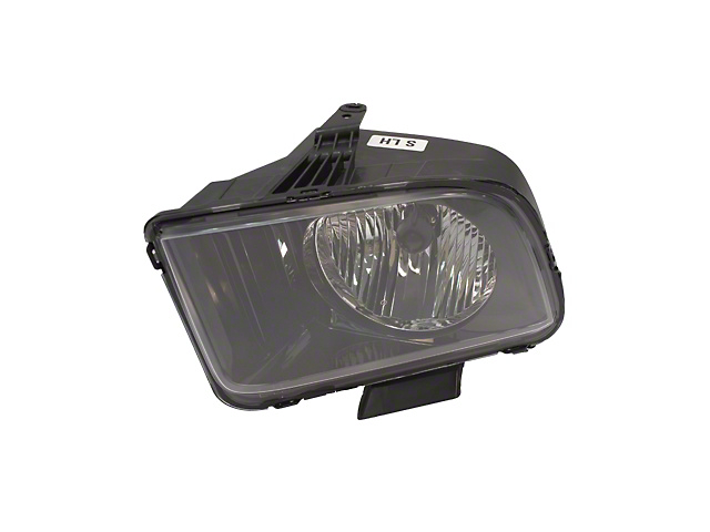 Ford Factory Replacement Halogen Headlight; Black Housing; Clear Lens; Driver Side (05-09 GT, V6)