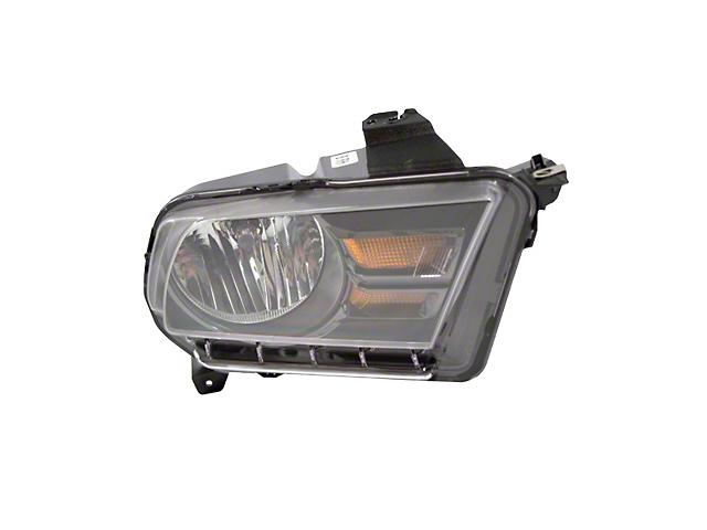 Ford Factory Replacement Halogen Headlight; Black Housing; Clear Lens; Passenger Side (10-12 w/ Halogen Headlights)