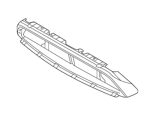 Ford Grille Surround; Black (13-14 GT, V6)
