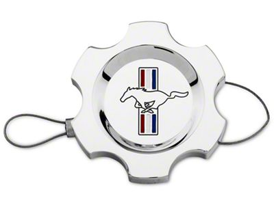 Add Modern Billet Chrome Power Steering Cap - Tri-Bar Logo (96-10 All)