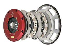 Mantic Clutch 9000 Series Twin Disc Ceremetallic Clutch Kit with 8-Bolt Flywheel; 23 Spline (18-21 GT)