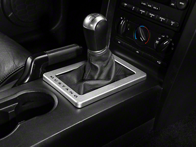 Modern Billet Satin Shifter Bezel - Mustang Lettering (05-09 w/ Manual Transmission)