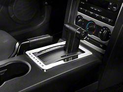 Modern Billet Chrome Shifter Bezel - Mustang Lettering (05-09 w/ Automatic Transmission)
