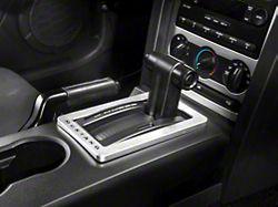 Modern Billet Satin Shifter Bezel - Mustang Lettering (05-09 w/ Automatic Transmission)