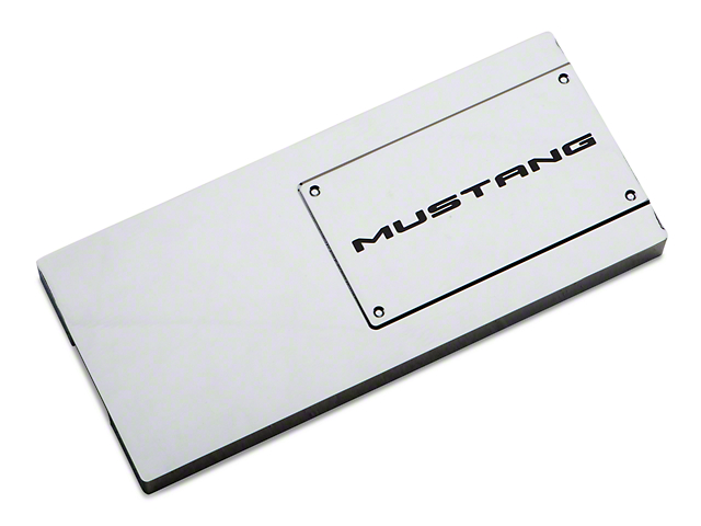 41421?$prodpg640x480$ modern billet mustang chrome fuse box cover mustang lettering fuse box cover at bayanpartner.co