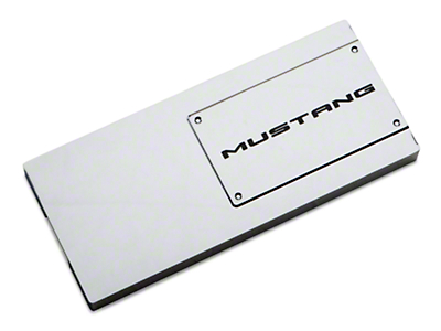 Modern Billet Chrome Fuse Box Cover - Mustang Lettering (10-14 All)