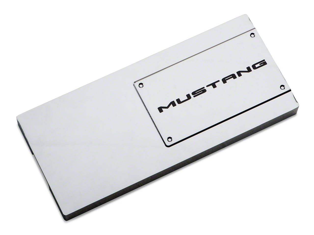 Modern Billet Chrome Fuse Box Cover - Mustang Lettering (10-14 All)