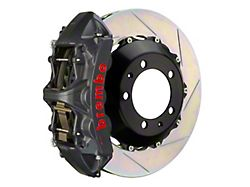 Brembo GT-S Series 6-Piston Front Big Brake Kit with 15-Inch 2-Piece Type 1 Slotted Rotors; Black Hard Anodized Calipers (05-14 Standard GT, V6)