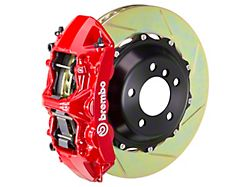 Brembo GT Series 6-Piston Front Big Brake Kit with 15-Inch 2-Piece Type 1 Slotted Rotors; Red Calipers (11-14 GT Brembo; 12-13 BOSS 302; 07-12 GT500)