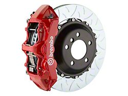 Brembo GT Series 6-Piston Front Big Brake Kit with 14-Inch 2-Piece Type 3 Slotted Rotors; Red Calipers (05-14 Standard GT, V6)
