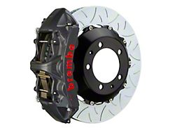 Brembo GT-S Series 6-Piston Front Big Brake Kit with 15-Inch 2-Piece Type 3 Slotted Rotors; Black Hard Anodized Calipers (05-14 Standard GT, V6)