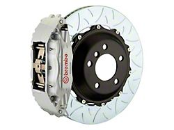 Brembo GT Series 4-Piston Front Big Brake Kit with 14-Inch 2-Piece Type 3 Slotted Rotors; Silver Calipers (94-04 All)