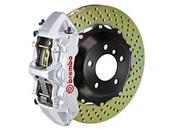 Brembo GT Series 6-Piston Front Big Brake Kit with 14-Inch 2-Piece Cross Drilled Rotors; Silver Calipers (94-04 All)