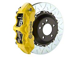 Brembo GT Series 6-Piston Front Big Brake Kit with 14-Inch 2-Piece Type 3 Slotted Rotors; Yellow Calipers (94-04 All)