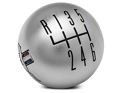 Modern Billet Retro 6-Speed Shift Knob w/ Tri-Bar Logo - Satin (11-14 GT, V6)