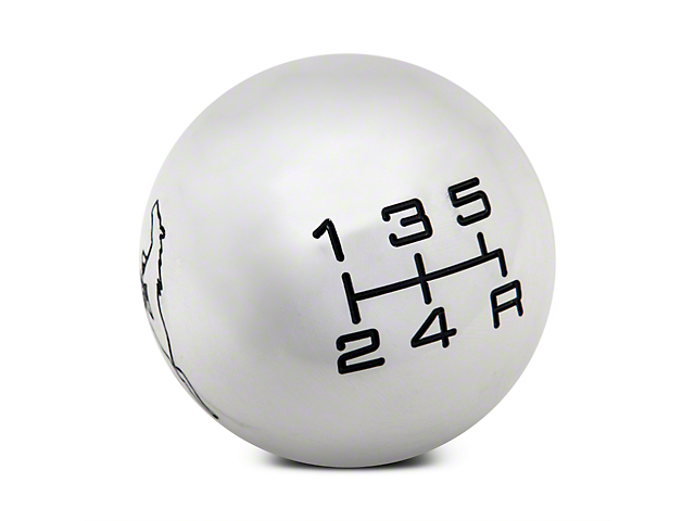 Modern Billet Mach 1 Style Shift Knob w/ Running Pony Logo (79-04 All, Excluding 03-04 Cobra)
