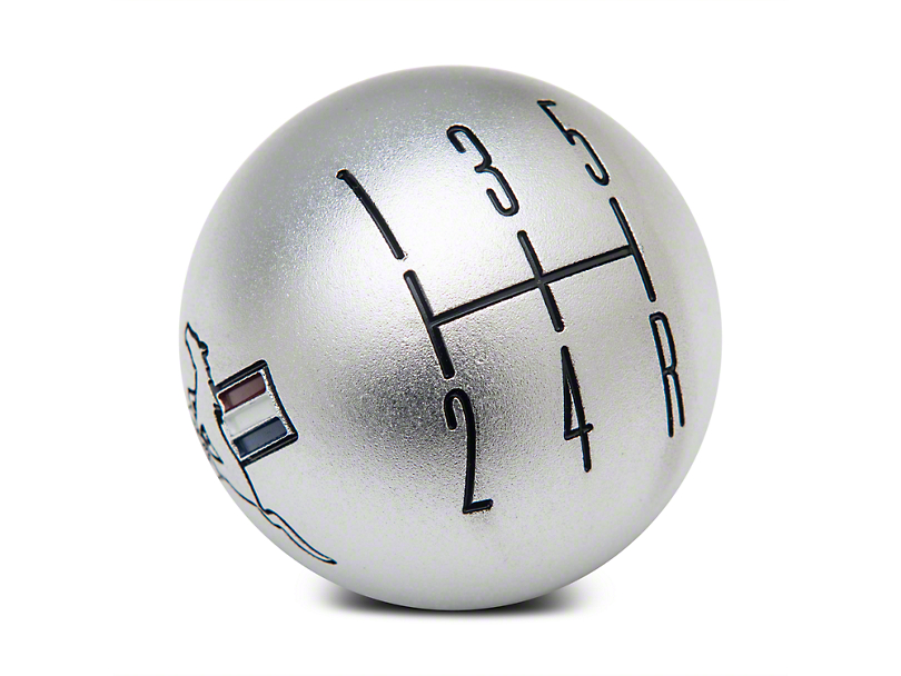 Modern Billet 2010 Style Shift Knob w/ Tri-Bar Logo - Satin (05-10 GT, V6)