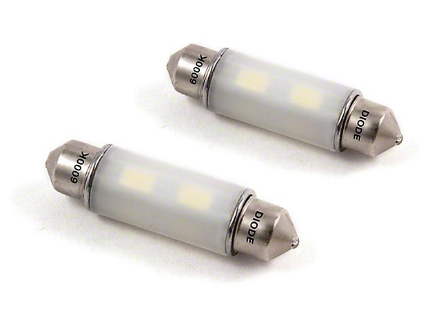 Diode Dynamics Cool White LED Map Light Bulbs; 41mm HP6 (08-21 All)