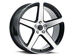 Liquid Metal Wheels Gen X Gloss Black Machined Wheel; 18x8 (05-09 GT, V6)