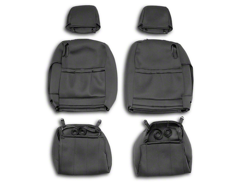 Next Edge NeoSupreme Front Seat Covers - Black (05-14 All)