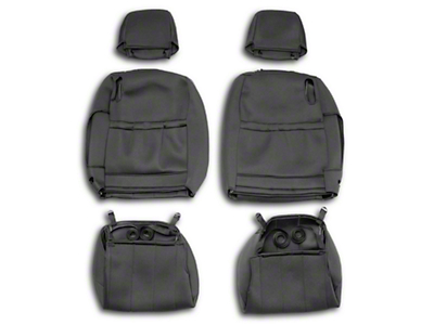 Caltrend NeoSupreme Front Seat Covers - Black (05-14 All)