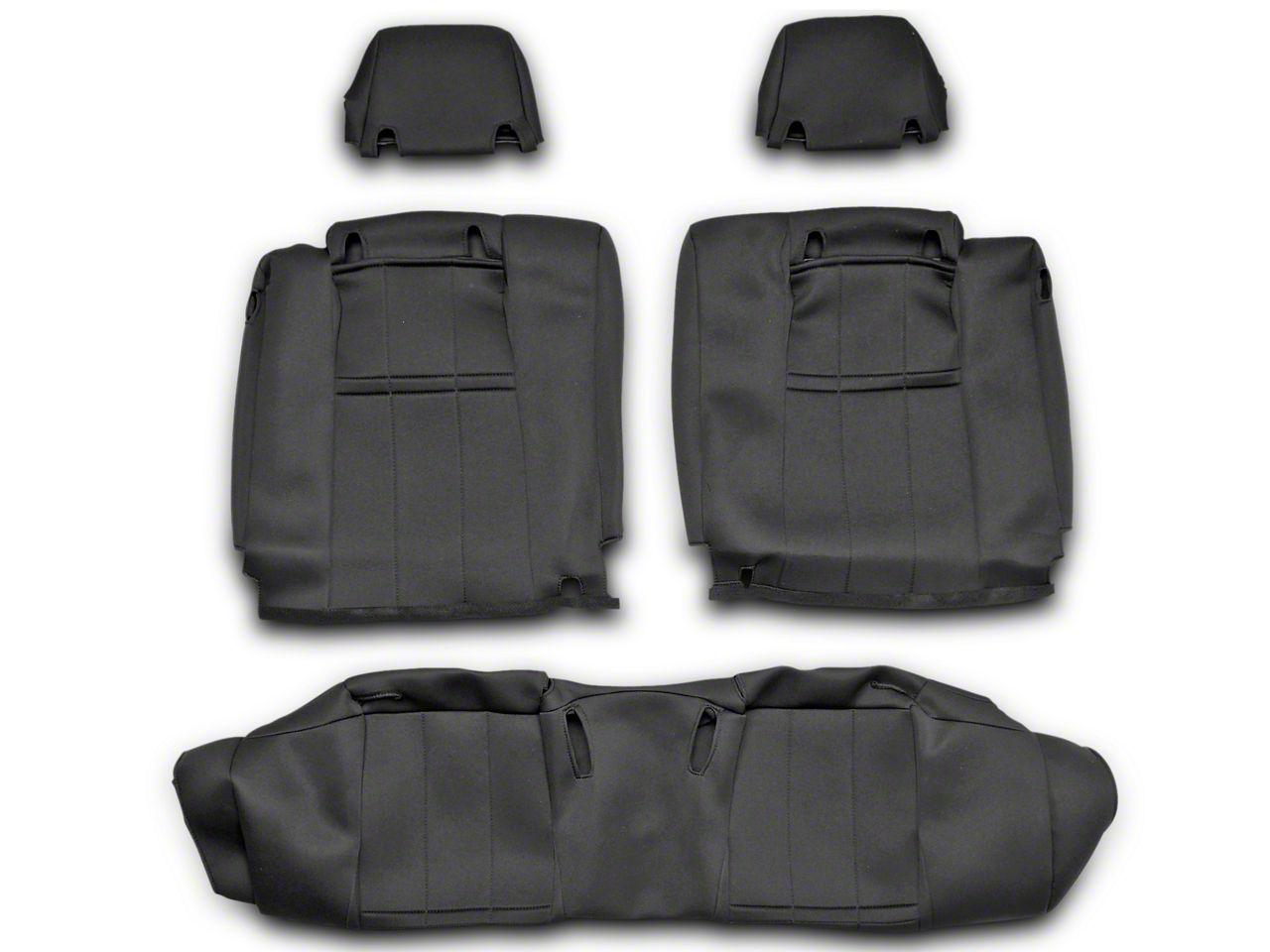 Caltrend NeoSupreme Rear Seat Cover - Black - Solid Rear Seat (10-14 All)