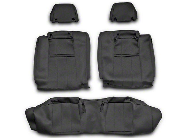 NeoSupreme Rear Seat Cover; Black (10-14 All)