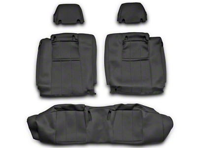 Caltrend NeoSupreme Rear Seat Cover - Black - Solid Rear Seat (10-14 All)
