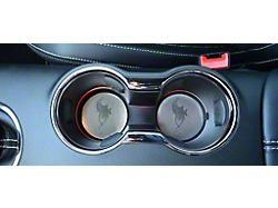 Pony Cup Holder Accent Plates; 2-Piece (15-21 GT)