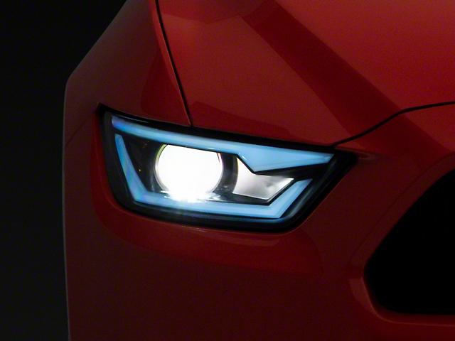 LED Bar Projector Headlights; Matte Black Housing; Smoked Lens (15-17 All; 18-21 GT350, GT500)