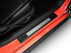 Door Sill Surround Accent Trim; Domed Carbon Fiber (15-21 All)