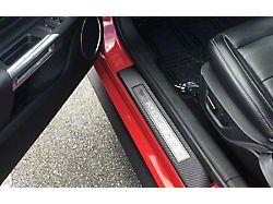 Door Sill Surround Accent Trim; Raw Carbon Fiber (15-21 All)