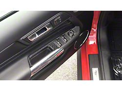 Door Switch Panel Accent Trim; Domed Carbon Fiber (15-21 All)