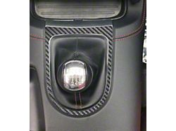 Shifter Accent Trim; Raw Carbon Fiber (15-21 All, Excluding GT500)