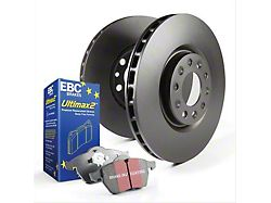 EBC Brakes Stage 1 Ultimax Brake Rotor and Pad Kit; Front (15-21 Standard GT)